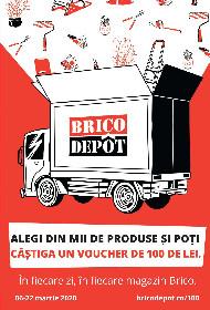 Brico Depot - In fiecare zi in fiecare magazin poti castiga un voucher de 100 lei   06 Martie - 22 Martie