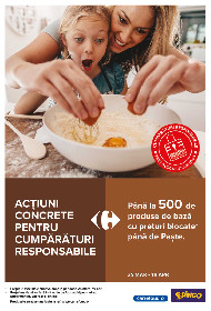 Carrefour - Actiuni concrete pentru cumparaturi responsabile | 25 Martie - 19 Aprilie