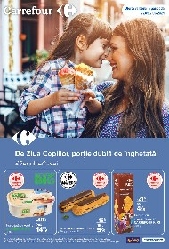 Carrefour - De ziua copiilor portie dubla de inghetata | 27 Mai - 02 Iunie