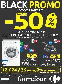 Carrefour - Pana la 50%  reducere la electronice, electrocasnice IT si telecom. | 06 Februarie - 19 Februarie