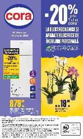 Cora - 20% reducere la electrocasnice si aparate electrice de ingrijire personala | 26 Februarie - 10 Martie