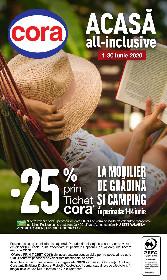 Cora - 25% reducere la mobilier de gradina si camping | 01 Iunie - 30 Iunie