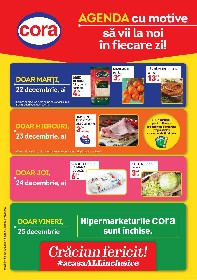 Cora - Agenda cu motive sa vii la Cora | 22 Decembrie - 28 Decembrie