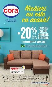 Cora - 20% reducere la textile de casa si mobilier interior | 30 Decembrie - 26 Ianuarie