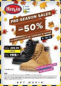 Hervis Sports - Pre-season Sale. Pana la 50% reducere la articole de toamna si iarna | 08 Octombrie - 18 Octombrie