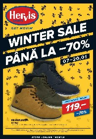 Hervis Sports - Winter Sale Pana la 70% reducere  | 07 Ianuarie - 20 Ianuarie