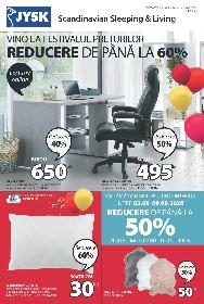 Jysk - Pana la 50% reducere la mobilierul de interior | 07 Septembrie - 23 Septembrie