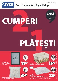 JYSK - Cumperi 2 platesti 1  | 11 Martie - 17 Martie