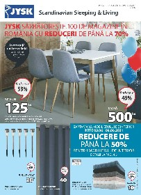 JYSK - Sarbatorim 100 de magazine in Romania cu pana la 70% reducere | 03 Iunie - 30 Iunie
