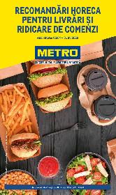 Metro - Recomandari HoReCa pentru livrari si ridicare de comenzi | 03 Aprilie - 31 Mai