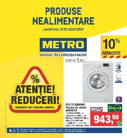 Metro - Atentie Reduceri! Oferte nealimentare. | 03 Februarie - 01 Martie