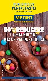 Metro - 50% reducere la mai mult de 100 de produse dulci | 09 Aprilie - 30 Aprilie