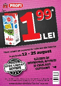 Profi - Preturi exclusive pe cupoane | 12 August - 25 August
