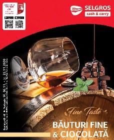 Selgros - Bauturi fine si ciocolata   06 Noiembrie - 26 Noiembrie