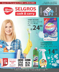 Selgros - Produse pentru curatenie   13 Martie - 09 Aprilie