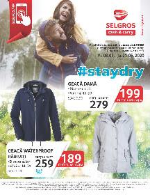 Selgros - Oferta geci si veste  rezistente la ploaie   08 Mai - 21 Mai