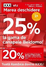 XXXLutz - 25% reducere la gama de canapele Beldomo | 15 Februarie - 28 Februarie