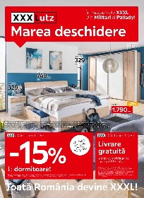 XXXLutz - 15% reducere la dormitoare | 22 Martie - 04 Aprilie