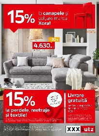 XXXLutz - 15% reducere la perdele metraje si textile | 04 Aprilie - 18 Aprilie