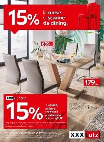 xxxLutz - 15% reducere la scaune si mese de dining! | 19 Aprilie - 02 Mai