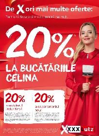 XXXLutz - 20% reducere la bucatariile Celina | 03 Mai - 16 Mai