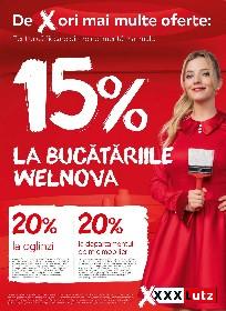 XXXLutz - 15% reducere la bucatariile Welnova | 25 Mai - 08 Iunie