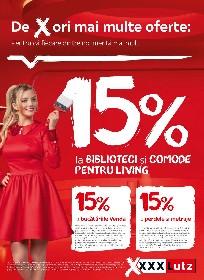 XXXLutz - 15% reducere la biblioteci si comode pentru living | 07 Iunie - 20 Iunie