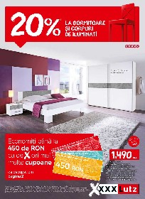 XXXLutz - 20% reducere la dormitoare si corpuri de iluminat   05 Iulie - 08 August